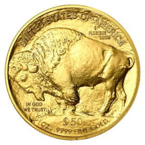 1 oz $50 Gold American Buffalo Coin (Date Varies)