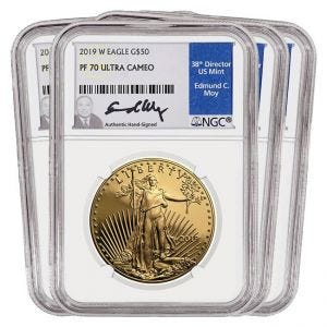 2019 Gold American Eagle Set Proof 70