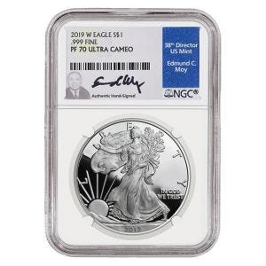 2019 Silver American Eagle Proof 70 Coin