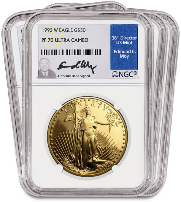 1992 Gold American Eagle Proof 70
