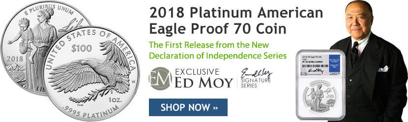 1 oz Platinum American Eagle Proof 70