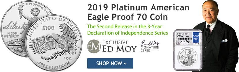 2019 1 oz Platinum American Eagle Proof 70