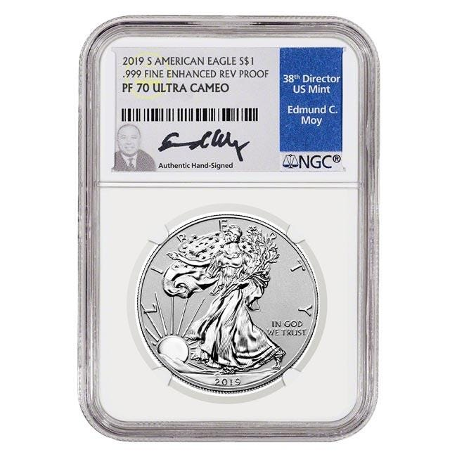 2019 Silver American Eagle Enhanced Reverse Proof