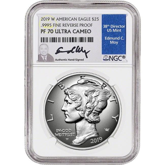2019 Palladium Eagle Reverse Proof
